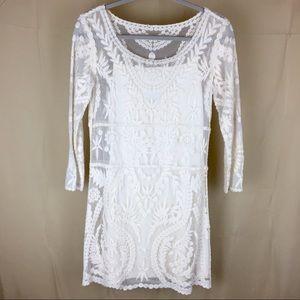 Express White Lace Dress - S
